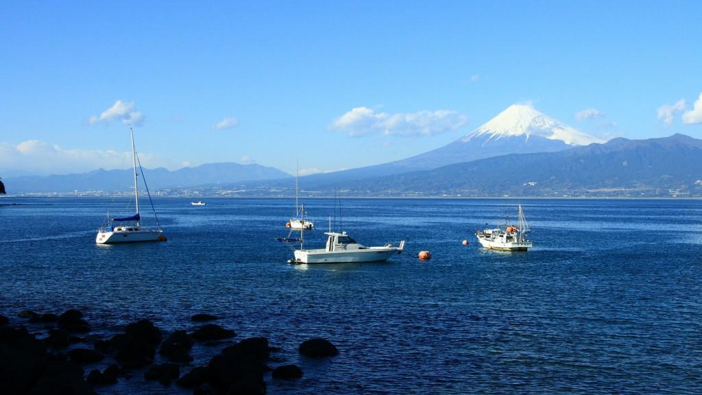 伊豆半島から富士山を望む