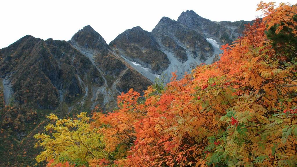 秋の前穂高岳