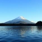 精進湖から富士山を望む(フルHD1920X1080壁紙)