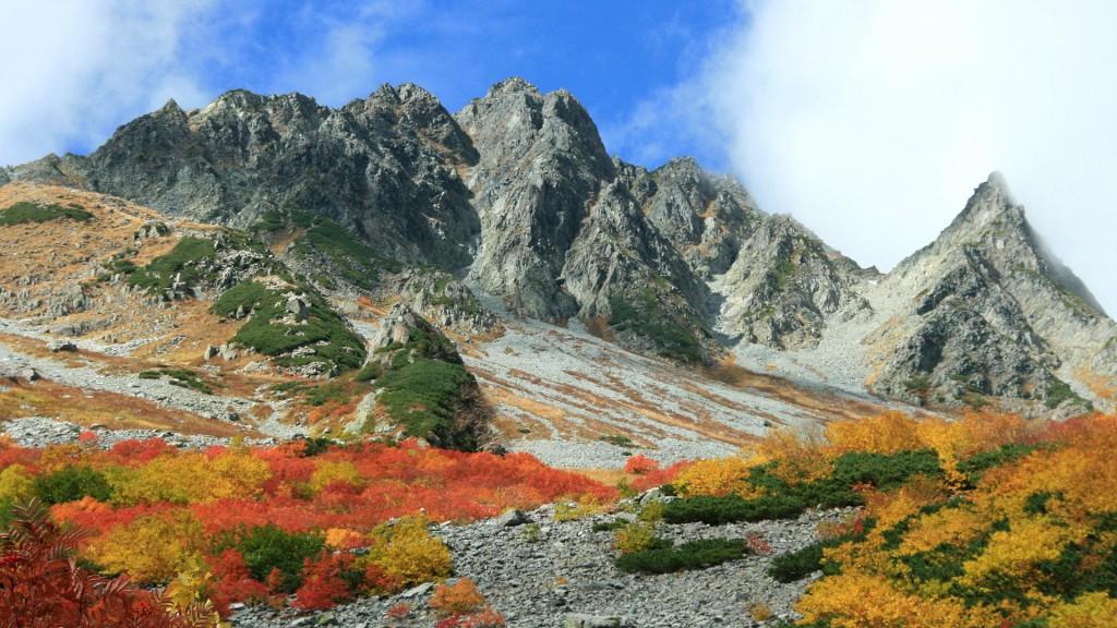 涸沢と奥穂高岳