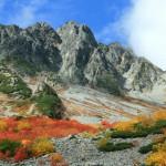秋の涸沢と奥穂高岳(フルHD1920x1080ワイド壁紙)