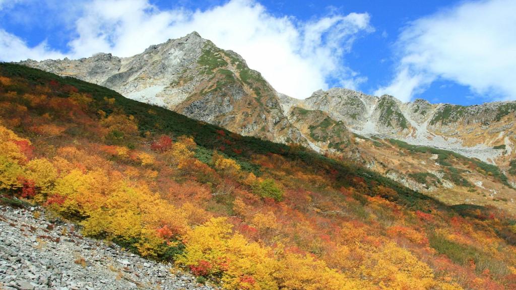 秋の穂高岳