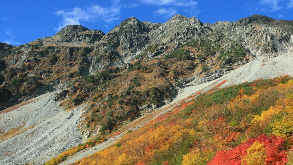 秋の奥穂高岳