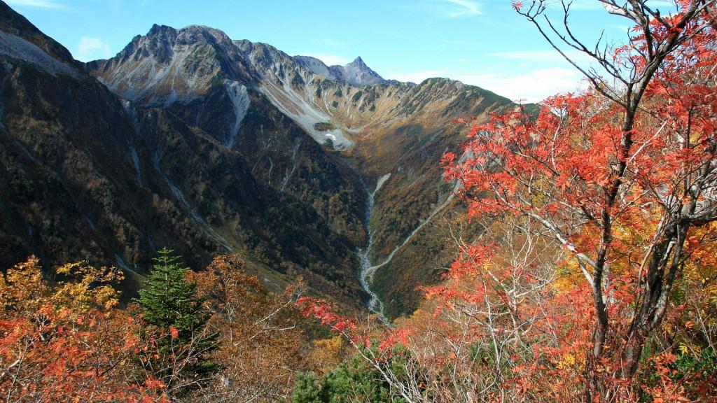 秋色の槍ヶ岳