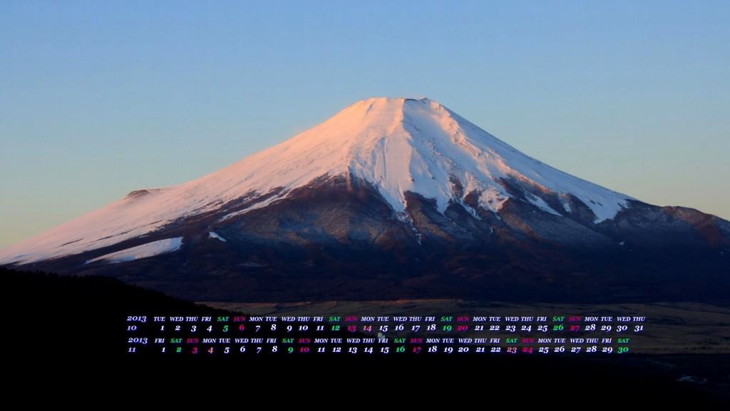 薄明の富士