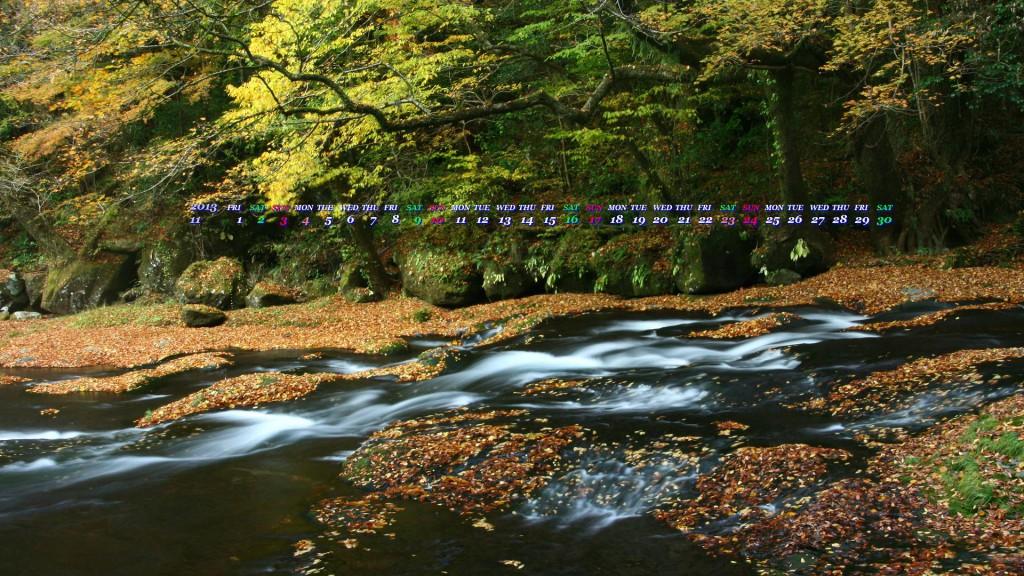 秋の菊池渓谷