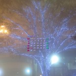 霧のクリスマス・イルミ(2013年12月カレンダー壁紙)