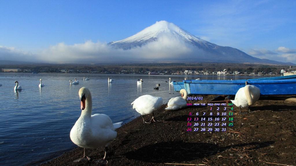 富士山、山中湖から