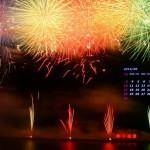 筑後川花火大会(2014年8月カレンダー)