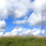 高原の空いっぱいの雲