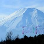 高座山から富士山を望む