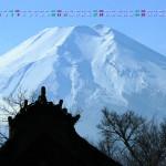 忍野村から富士山を仰ぐ