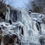 氷結した英彦山四王寺滝