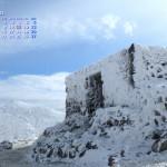 白き要塞(厳冬期九重連山池の小屋)