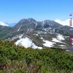雪解けの妙高山と天狗庭