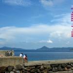 夏の防波堤
