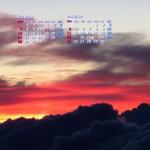 黎明の空(南アルプス)