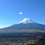忍野村と富士山