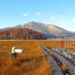 草紅葉の尾瀬ヶ原と至仏山