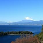 伊豆から富士山を望む