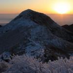 九州本土最高峰からご来光