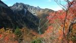 秋色の槍ヶ岳(フルHD1920x1080ワイド壁紙)